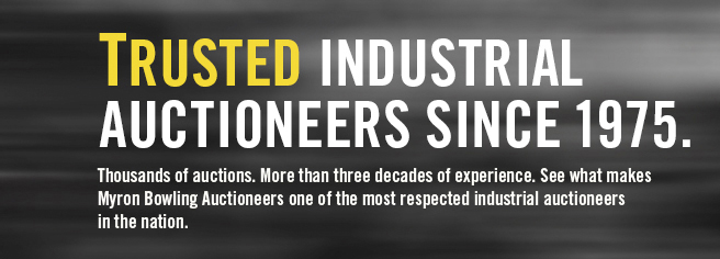 Trusted Industrial Auctioneers Since 1975.